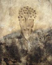Autoretrato, 2007, técnica mixta sobre lienzo, 81x65 cm