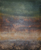 sin título, 2005, técnica mixta sobre lienzo acolchado, 65x54 cm