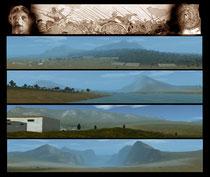 Selbst erstellte Landschaften (ganz oben ist Issus als Eingangspanorama) im eigenen Editor des Spieles.