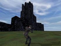 Castle Ares, kleine 3D Burg, voll begehbar.