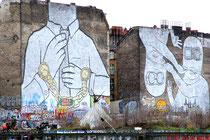 Blu - dieses Wandbild wurde 2015 zerstört, um den Grundstücksspekulanten dieses Kultkunstwerk nicht zu überlassen!