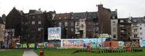 Eine Hall of Fame in Köln-Mülheim, jeder darf hier malen und sprayen