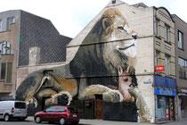 Mural der Belgier Steve Locatelli und Smates.