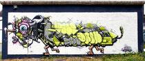 One Truth, Brüderpaar aus der Schweiz, haben das Mural am 28.07.2016 fertiggestellt