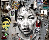 Sticker- und Paste Up-Wand