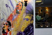 Wandbild von La Chiave in der Galerie und Restaurant Kunstbruder