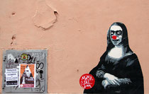 Paste Up von Mimi the Clown in Trastevere