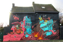 Mural von Derm in der Vlijtstraat