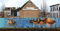 Mural von Gun-T13 in der Station Berchem