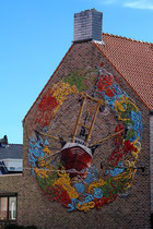 Mural vom Belgier Siegfried Vynck, der in Oostende lebt.