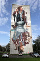 Fintan Magee, das Mural ist fertig.