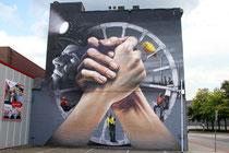 Das fertige Mural von Super A