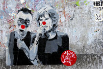 Paste Up von Mimi the Clown zusammen mit Mick Jagger in Trastevere