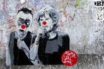 Paste Up von Mimi the Clown zusammen mit Mick Jagger in Trastevere