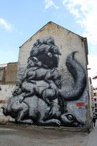 Mural von ROA, Belgien