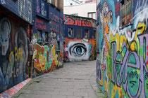 Streetart-Gasse Werregaren, hier gestattet die Stadt Gent das Malen und Sprayen