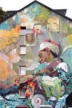 Ammar Abo Bakr - seine Kunst floß ein in die politische Street-Art-Szene Ägyptens, die 2011, während der Revolution, explodierte, als habe sie nur auf ein passendes Ventil gewartet.