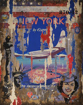 PARIS-NEW-YORK PANAMERICAN 115 cm x 90 cm 2017