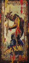 KING KONG  Collage papier & technique mixte sur châssis bois  244 cm x 108 cm 2016