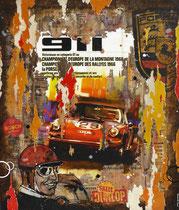 PORSCHE 911 1966  Collage papier & technique mixte sur châssis bois  84 cm x 70 cm  2017