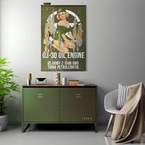 MISS US ARMY  Collage papier & technique mixte sur support bois 105 cm x 73 cm  2021