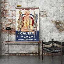 MISS CALTEX Collage papier & technique mixte sur support bois 105 x 73  2019
