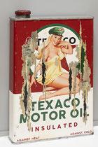 MISS TEXACO  Collage papier & technique mixte sur support bois 105 x 73  2020