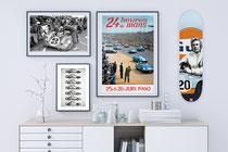 Skate Steve McQueen  Peinture acrylique 80 cm x 20 cm  2021