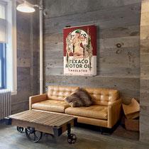 MISS TEXACO  Collage papier & technique mixte sur support bois 105 cm x 73 cm  2020