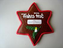 Sonderform Stern Lebkuchen - mit Logo aus Zuckerpapier