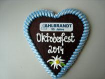 Oktoberfest Lebkuchenherz 21 x 22 cm