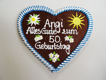 Lebkuchenherz 32 x 28 cm Geburtstag