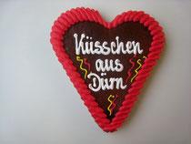 Lebkuchenherz 15 x 17 cm für Fasching und Karneval