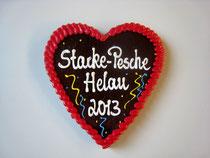 Lebkuchenherz 22 x 21 cm für Fasching und Karneval