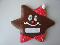 Sonderform Stern Lebkuchen Weihnachten - mit Logo aus Zuckerpapier
