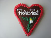 Lebkuchenherz 15 x 17 cm - Weihnachten