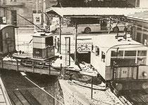 Betrieb mit 1 Wagen bei Bergstation
