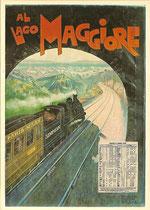 Plakat für die Simplonbahn