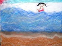 幼稚園(男子)パステル画