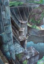 森と湖のある風景画コンクール生徒受賞作品