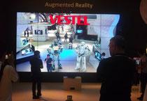 IFA 2012 | VESTEL |Augmented reality gab's nicht nur bei SONY.  Auch VESTEL (eine türkische Company!) zeigte auf seinem großflächigen und großzügigen Stand, wie man selbst zum aktiven Teil der Bildschirm-Inszenierung wird.