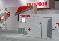 IFA 2012 | TELEFUNKEN | Seltsam blutleer auch der TELEFUNKEN-Messeauftritt. Einerseits ein modern-puristisches Styling, aber leblos und ohne emotionales Involvierungs-Potenzial.