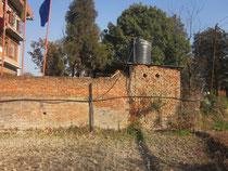 Übergang Feld zur Mauer