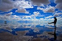 Salar de Uyuni in der Regenzeit