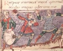 Stuttgarter Psalter fol. 031r (Detail).