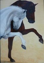 2009 Pas de deux     acrylverf op linnen 70 x 100 cm. € 1275,-