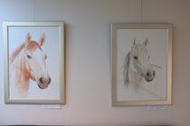 2009 Verkennende aquarellen van paardenhoofden 50 x 70 cm. per stuk € 275