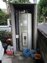 設置前の電気温水器