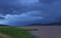 Ende des Steingrimsfjördur nach wochenlangen Regenfällen