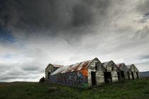 Landwirtschaftliche Gebäude zwischen Reykjavik und Akranes